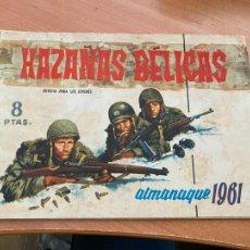 Tebeos: HAZAÑAS BELICAS ALMANAQUE 1961 (TORAY) ORIGINAL (COIB80). Lote 257655820