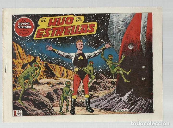EL MUNDO FUTURO 9, 1955, TORAY, ORIGINAL, BUEN ESTADO (Tebeos y Comics - Toray - Mundo Futuro)