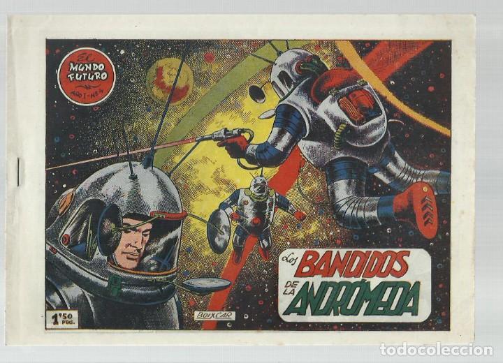 EL MUNDO FUTURO 4, 1955, TORAY, ORIGINAL, BUEN ESTADO (Tebeos y Comics - Toray - Mundo Futuro)