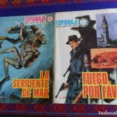 Tebeos: ESPIONAJE 59 FUEGO, POR FAVOR, 60 LA SERPIENTE DE MAR. TORAY 1967. 10 PTS. BUEN ESTADO Y RAROS.. Lote 260029440