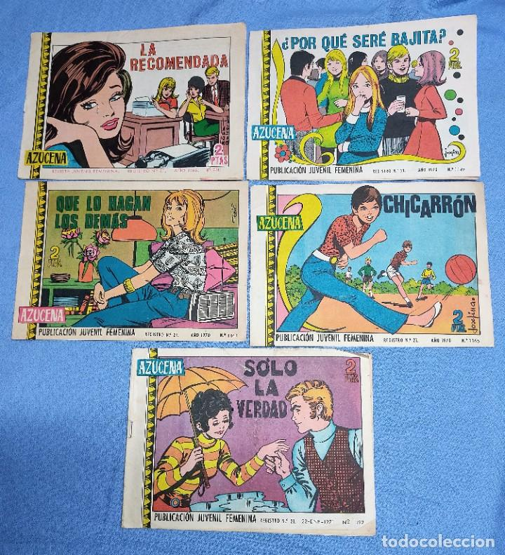 9 EJEMPLARES COLECCION AZUCENA DE EDICIONES TORAY ORIGINALES (Tebeos y Comics - Toray - Azucena)