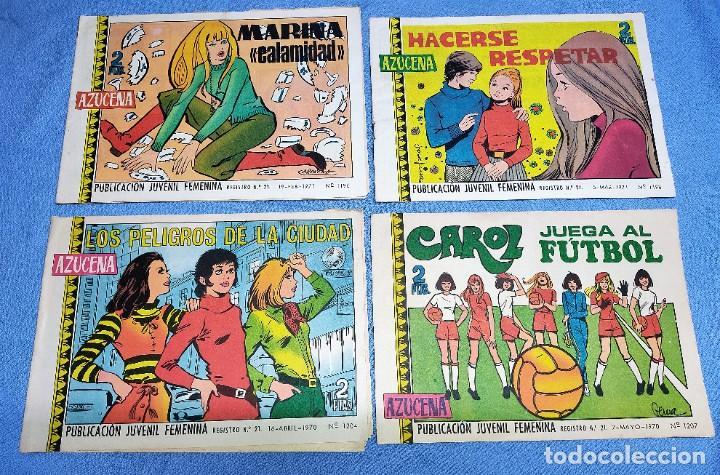 Tebeos: 9 EJEMPLARES COLECCION AZUCENA DE EDICIONES TORAY ORIGINALES - Foto 2 - 261103105