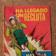 Tebeos: COMIC DE HAZAÑAS BELICAS EN HA LLEGADO UN RECLUTA DEL AÑO 1958 Nº 248. Lote 261228275