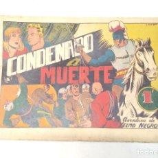 Tebeos: YELMO NEGRO Nº 2 CONDENADO A MUERTE. EDITORIAL TORAY ORIGINAL AÑO 1947. Lote 262045770