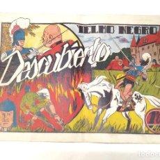 Tebeos: YELMO NEGRO Nº 6 DESCUBIERTO. EDITORIAL TORAY ORIGINAL AÑO 1947. Lote 262046810