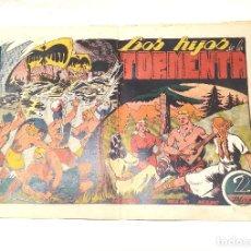 Tebeos: YELMO NEGRO Nº 11 LOS HIJOS DE LA TORMENTA. EDITORIAL TORAY ORIGINAL AÑO 1947. Lote 262047560