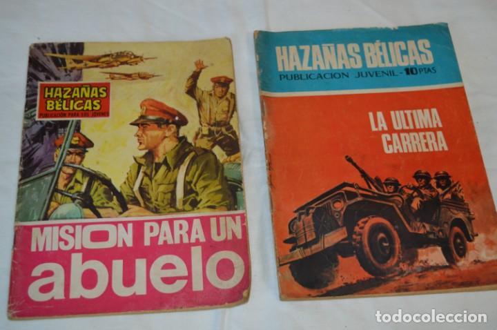 Tebeos: 11 Ejemplares Comics / 10 Hazañas Bélicas y 1 Relatos de Guerra - Diferentes formatos - ¡Mira fotos! - Foto 9 - 262379000