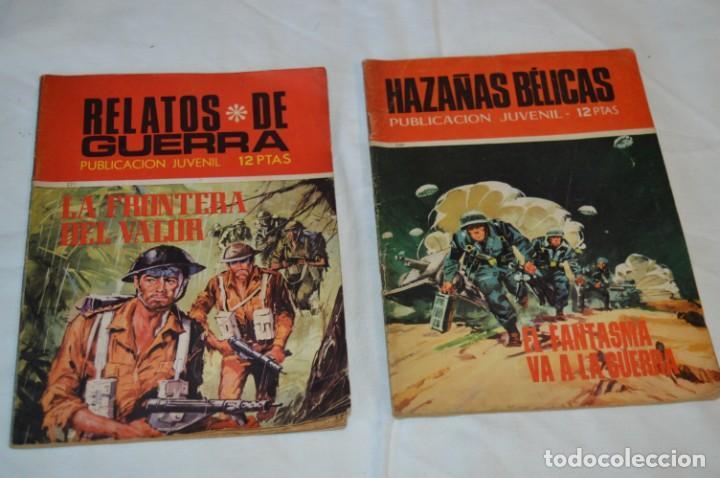 Tebeos: 11 Ejemplares Comics / 10 Hazañas Bélicas y 1 Relatos de Guerra - Diferentes formatos - ¡Mira fotos! - Foto 10 - 262379000