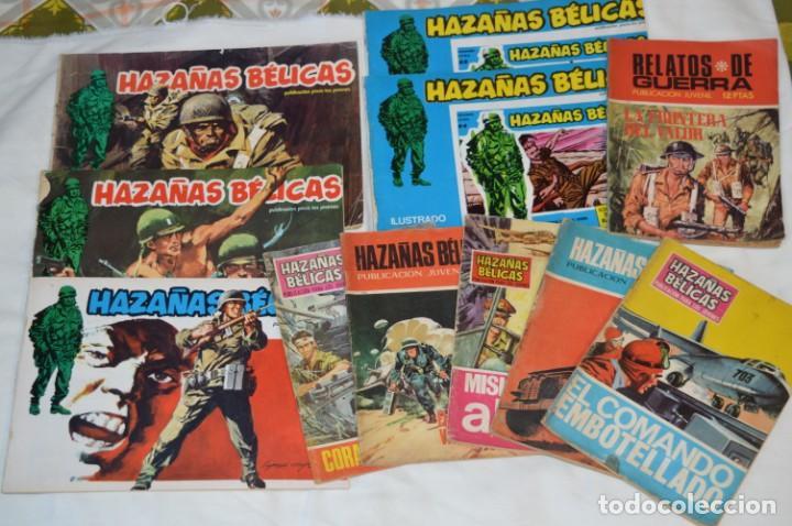 11 EJEMPLARES COMICS / 10 HAZAÑAS BÉLICAS Y 1 RELATOS DE GUERRA - DIFERENTES FORMATOS - ¡MIRA FOTOS! (Tebeos y Comics - Toray - Hazañas Bélicas)