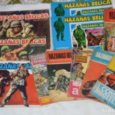 Tebeos: 11 EJEMPLARES COMICS / 10 HAZAÑAS BÉLICAS Y 1 RELATOS DE GUERRA - DIFERENTES FORMATOS - ¡MIRA FOTOS!. Lote 262379000