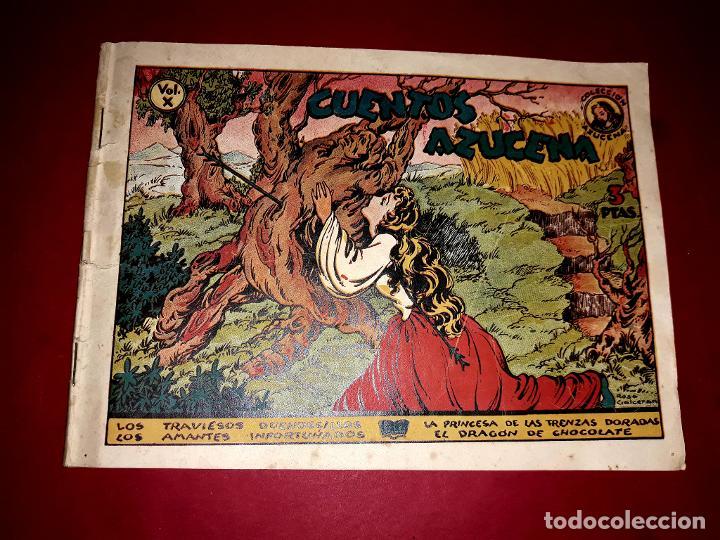 CUENTOS AZUCENA VOLUMEN X CON 4 CUENTOS 1948 MUY DIFICIL (Tebeos y Comics - Toray - Azucena)