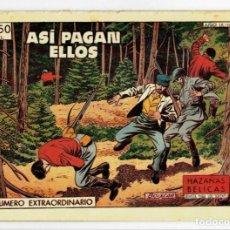 Livros de Banda Desenhada: HAZAÑAS BÉLICAS Nº 241 (NÚMERO EXTRAORDINARIO) ASÍ PAGAN ELLOS (ORIGINAL) TORAY 1957. Lote 263564465