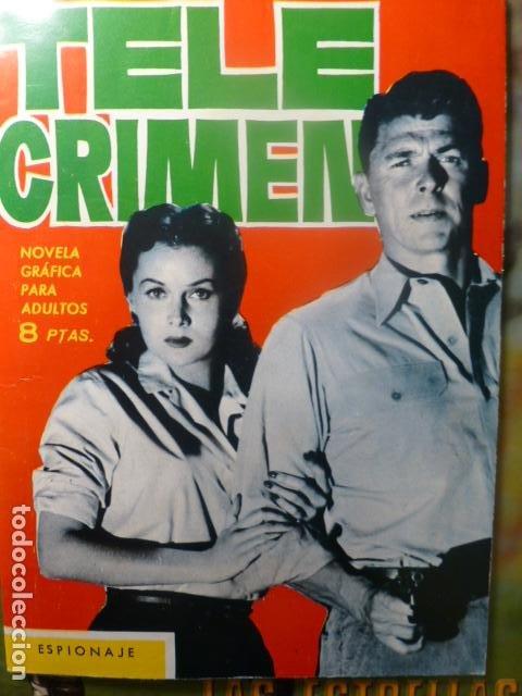 COMIC TELE CRIMEN ESPIONAJE 1965 (Tebeos y Comics - Toray - Espionaje)