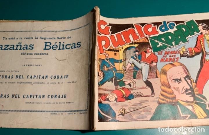 Tebeos: COMIC EL DIABLO DE LOS MARES,ÁLBUM VOLUMEN XIV (14),EDIT TORAY,AÑO 1949,DIBUJANTE FERRANDO,ORIGINAL - Foto 3 - 265558894