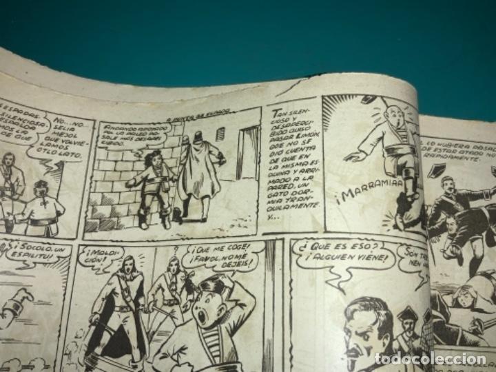Tebeos: COMIC EL DIABLO DE LOS MARES,ÁLBUM VOLUMEN XIV (14),EDIT TORAY,AÑO 1949,DIBUJANTE FERRANDO,ORIGINAL - Foto 6 - 265558894