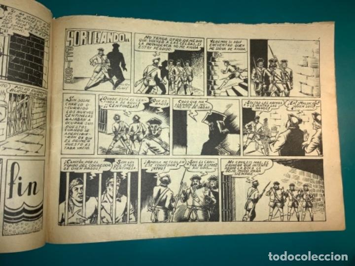 Tebeos: COMIC EL DIABLO DE LOS MARES,ÁLBUM VOLUMEN XIV (14),EDIT TORAY,AÑO 1949,DIBUJANTE FERRANDO,ORIGINAL - Foto 9 - 265558894