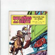 Tebeos: ARCHIVO * NOVELA GRAFICA HAZAÑAS DEL OESTE * Nº 205 * ED. TORAY 1969. Lote 267073159
