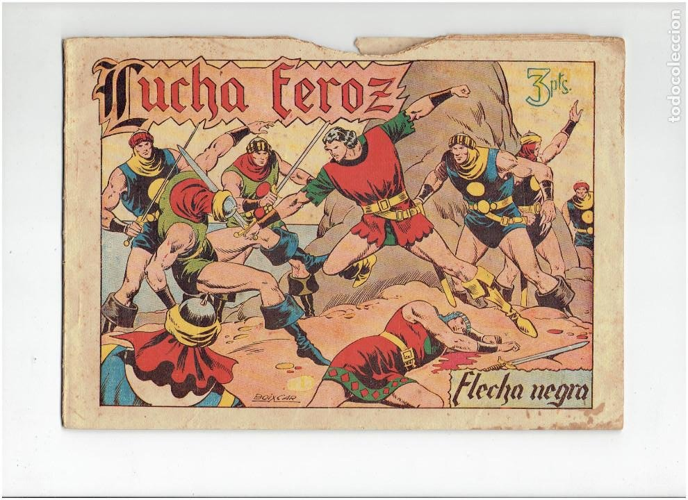 ARCHIVO * FLECHA NEGRA * ALBUM Nº 6 * TORAY 1950 * DIBUJOS DE BOIXCAR * (Tebeos y Comics - Toray - Flecha Negra)