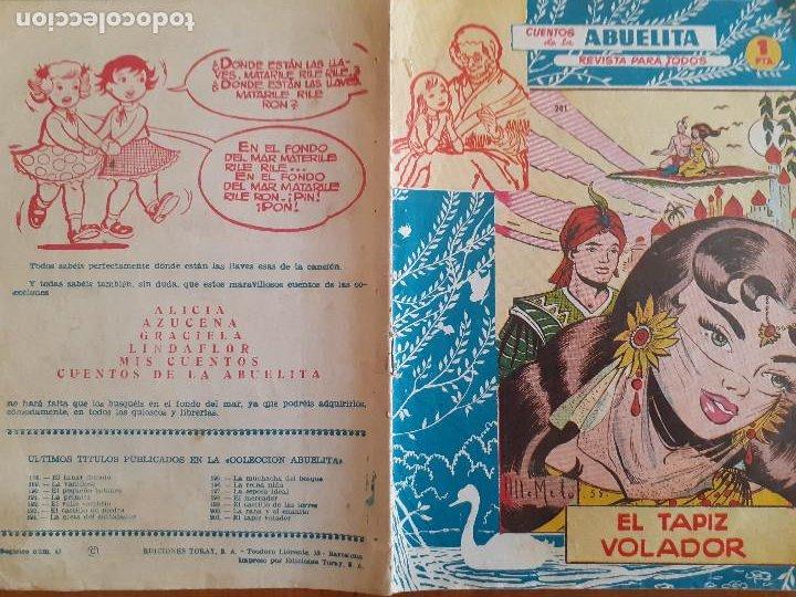 Tebeos: Cuentos de la Abuelita Nº 201. El tapiz volador. Toray. Normal estado - Foto 2 - 268872629