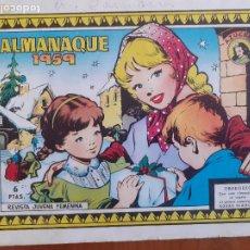 Tebeos: AZUCENA ALMANAQUE 1959. TORAY. NORMAL ESTADO. Lote 268873764