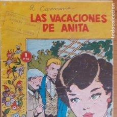 Tebeos: COLECCIÓN LINDAFLOR Nº 53. LAS VACACIONES DE ANITA. TORAY. NORMAL ESTADO. Lote 268879494
