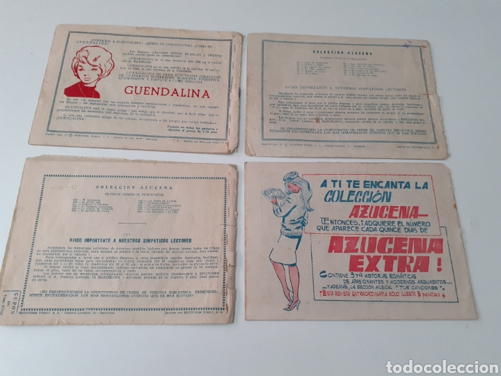 Tebeos: LOTE DE 13 COMICS AZUCENA. REVISTA JUVENIL FEMENINA. EDICIONES TORAY. AÑOS 60.VER FOTOS. - Foto 5 - 269116328