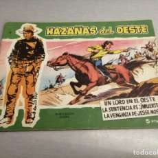 Tebeos: HAZAÑAS DEL OESTE Nº 11 VERDE / TORAY ORIGINAL. Lote 269450488