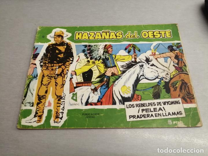 HAZAÑAS DEL OESTE Nº 13 VERDE / TORAY ORIGINAL (Tebeos y Comics - Toray - Hazañas del Oeste)