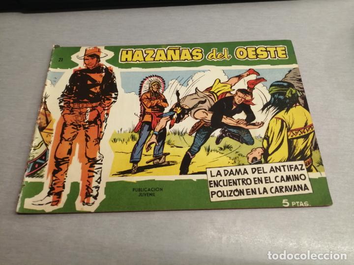 HAZAÑAS DEL OESTE Nº 21 VERDE / TORAY ORIGINAL (Tebeos y Comics - Toray - Hazañas del Oeste)
