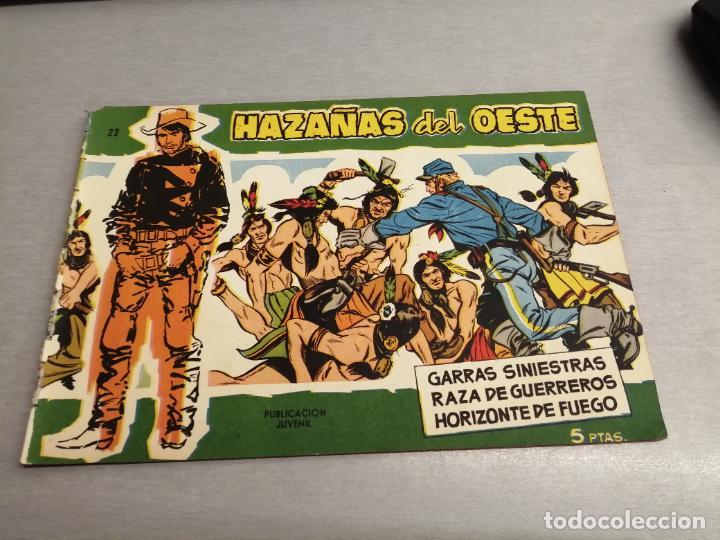 HAZAÑAS DEL OESTE Nº 22 VERDE / TORAY ORIGINAL (Tebeos y Comics - Toray - Hazañas del Oeste)