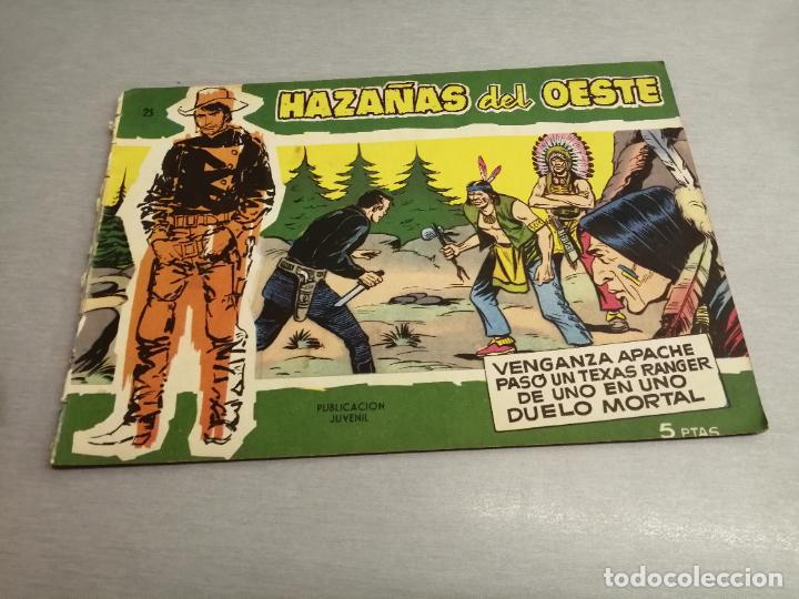 HAZAÑAS DEL OESTE Nº 25 VERDE / TORAY ORIGINAL (Tebeos y Comics - Toray - Hazañas del Oeste)