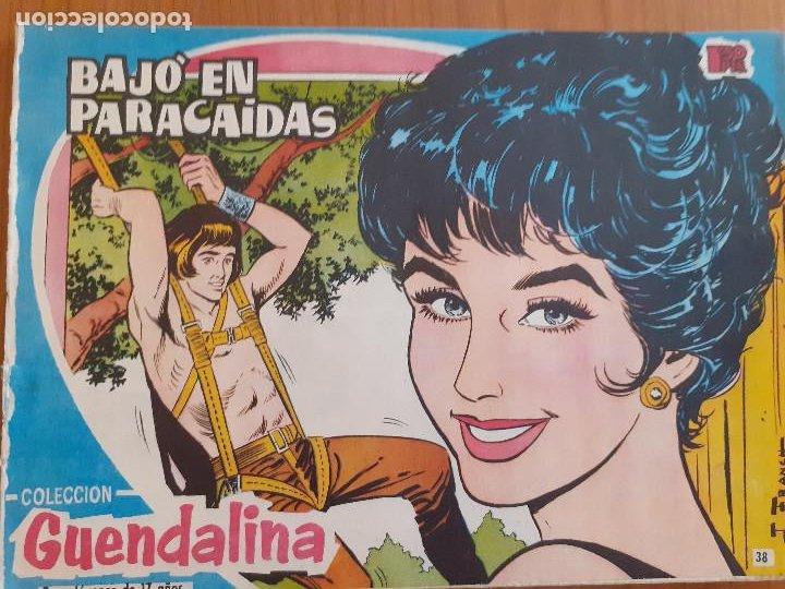 GUENDALINA Nº 38.BAJÓ EN PARACAÍDAS. CONTRAPORTADA JOSÉ LUÍS. EDITA TORAY. BUEN ESTADO (Tebeos y Comics - Toray - Guendalina)