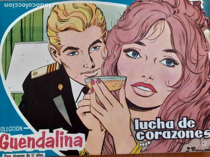 GUENDALINA Nº 41. LUCHA DE CORAZONES. CONTRAPORTADA RAMON CALDUCH. EDITA TORAY. BUEN ESTADO (Tebeos y Comics - Toray - Guendalina)