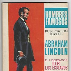 Tebeos: TORAY. HOMBRES FAMOSOS. 20. ABRAHAM LINCOLN.. Lote 271322123