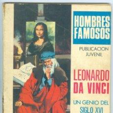 Tebeos: TORAY. HOMBRES FAMOSOS. 15. LEONARDO DA VINCI.. Lote 271322608