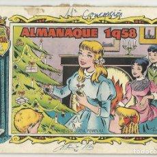 Tebeos: TORAY. COLECCIÓN ALICIA. 1958. ALMANAQUE.. Lote 271337688