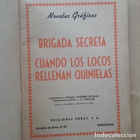 Tebeos: BRIGADA SECRETA Nº 32, CUANDO LOS LOCOS RELLENAN QUINIELAS - Foto 3 - 274204433