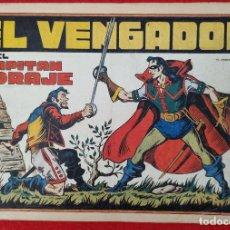 Tebeos: ALBUM Nº 1 EL CAPITAN CORAJE EL VENGADOR CON 4 EJEMPLARES TORAY GRAN FORMATO ANTIGUO ORIGINAL. Lote 276537408