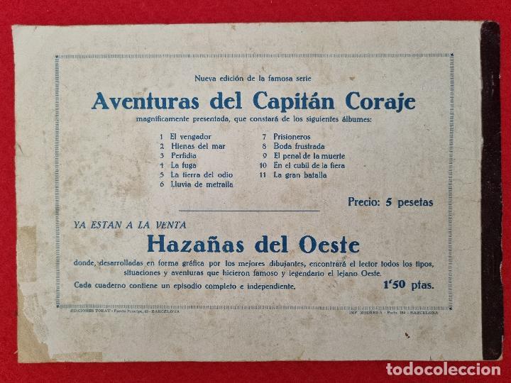 Tebeos: ALBUM Nº 5 EL CAPITAN CORAJE LA TIERRA DEL ODIO CON 4 EJEMPLARES TORAY GRAN FORMATO ANTIGUO ORIGINAL - Foto 6 - 276540248