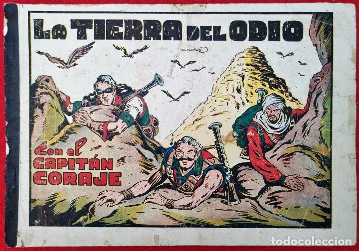 ALBUM Nº 5 EL CAPITAN CORAJE LA TIERRA DEL ODIO CON 4 EJEMPLARES TORAY GRAN FORMATO ANTIGUO ORIGINAL (Tebeos y Comics - Toray - Otros)