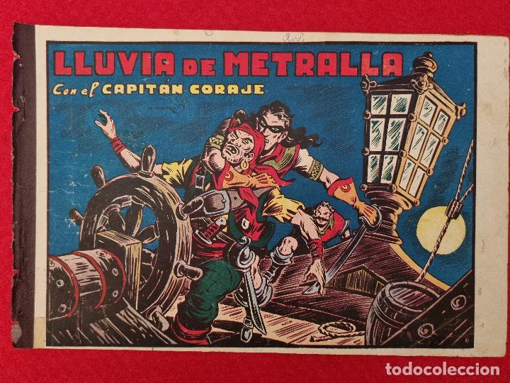 ALBUM Nº 6 EL CAPITAN CORAJE LLUVIA DE METRALLA CON 3 EJEMPLARES TORAY GRAN FORMATO ANTIGUO ORIGINAL (Tebeos y Comics - Toray - Otros)