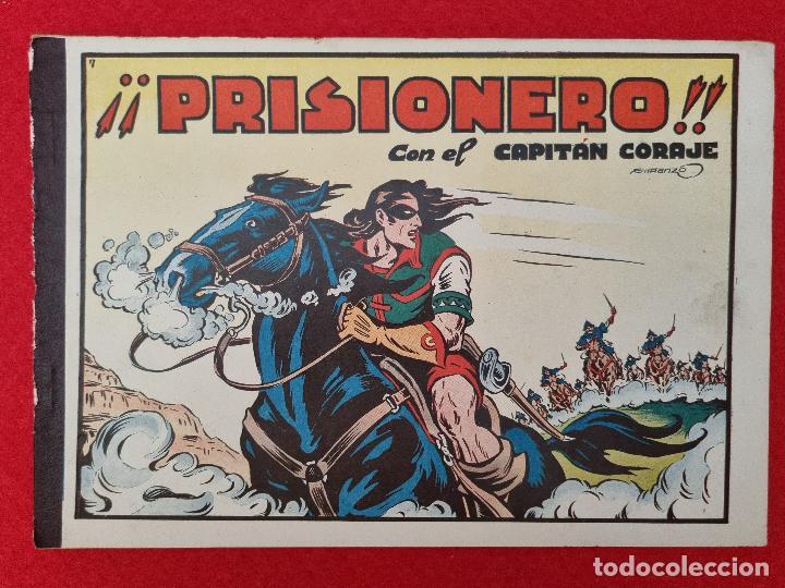ALBUM Nº 7 EL CAPITAN CORAJE PRISIONERO CON 4 EJEMPLARES TORAY GRAN FORMATO ANTIGUO ORIGINAL (Tebeos y Comics - Toray - Otros)