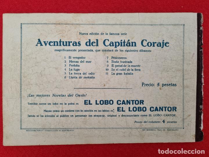 Tebeos: ALBUM Nº 8 EL CAPITAN CORAJE BODA FRUSTADA CON 4 EJEMPLARES TORAY GRAN FORMATO ANTIGUO ORIGINAL - Foto 6 - 276541428