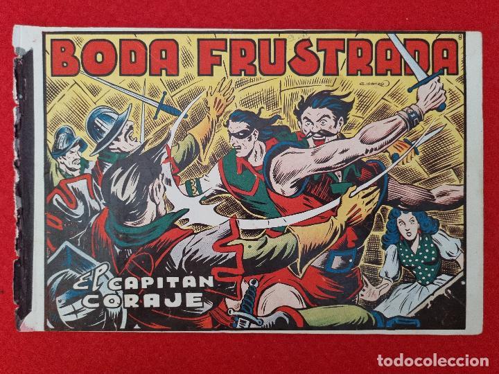 ALBUM Nº 8 EL CAPITAN CORAJE BODA FRUSTADA CON 4 EJEMPLARES TORAY GRAN FORMATO ANTIGUO ORIGINAL (Tebeos y Comics - Toray - Otros)