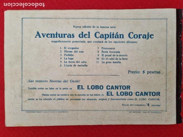 Tebeos: ALBUM Nº 9 EL CAPITAN CORAJE EL PENAL DE LA MUETE 4 EJEMPLARES TORAY GRAN FORMATO ANTIGUO ORIGINAL - Foto 6 - 276541608