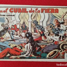 Tebeos: ALBUM Nº 10 EL CAPITAN CORAJE EL CUBIL DE LA FIERA 4 EJEMPLARES TORAY GRAN FORMATO ANTIGUO ORIGINAL. Lote 276541923