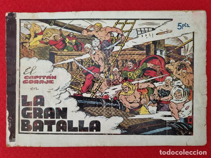 ALBUM Nº 11 EL CAPITAN CORAJE LA GRAN BATALLA 3 EJEMPLARES TORAY GRAN FORMATO ANTIGUO ORIGINAL (Tebeos y Comics - Toray - Otros)