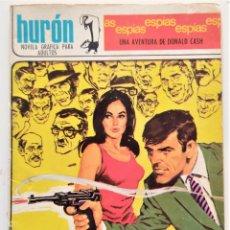 Tebeos: HURÓN Nº 18 - LLUVIA DE ESPÍAS - UNA AVENTURA DE DONALD CASH - EDICIONES TORAY 1967. Lote 276923553