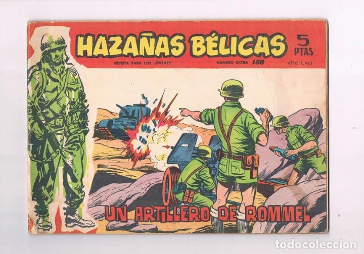 COMIC HAZAÑAS BELICAS NUMERO EXTRA 158 1964 UN ARTILLERO DE ROMMEL 1964 (Tebeos y Comics - Toray - Hazañas Bélicas)