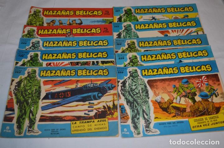 10 EJEMPLARES/COMICS VARIADOS / HAZAÑAS BÉLICAS - EDITORIAL TORAY - ¡MIRA FOTOS! LOTE 01 (Tebeos y Comics - Toray - Hazañas Bélicas)